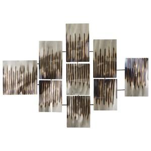 Ashley Signature Design Wall Art Oeneus Silver/Brown/Gold Finish Wall Decor