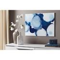 Signature Design by Ashley Wall Art Ariadna Blue/White Glass Panel Wall Decor