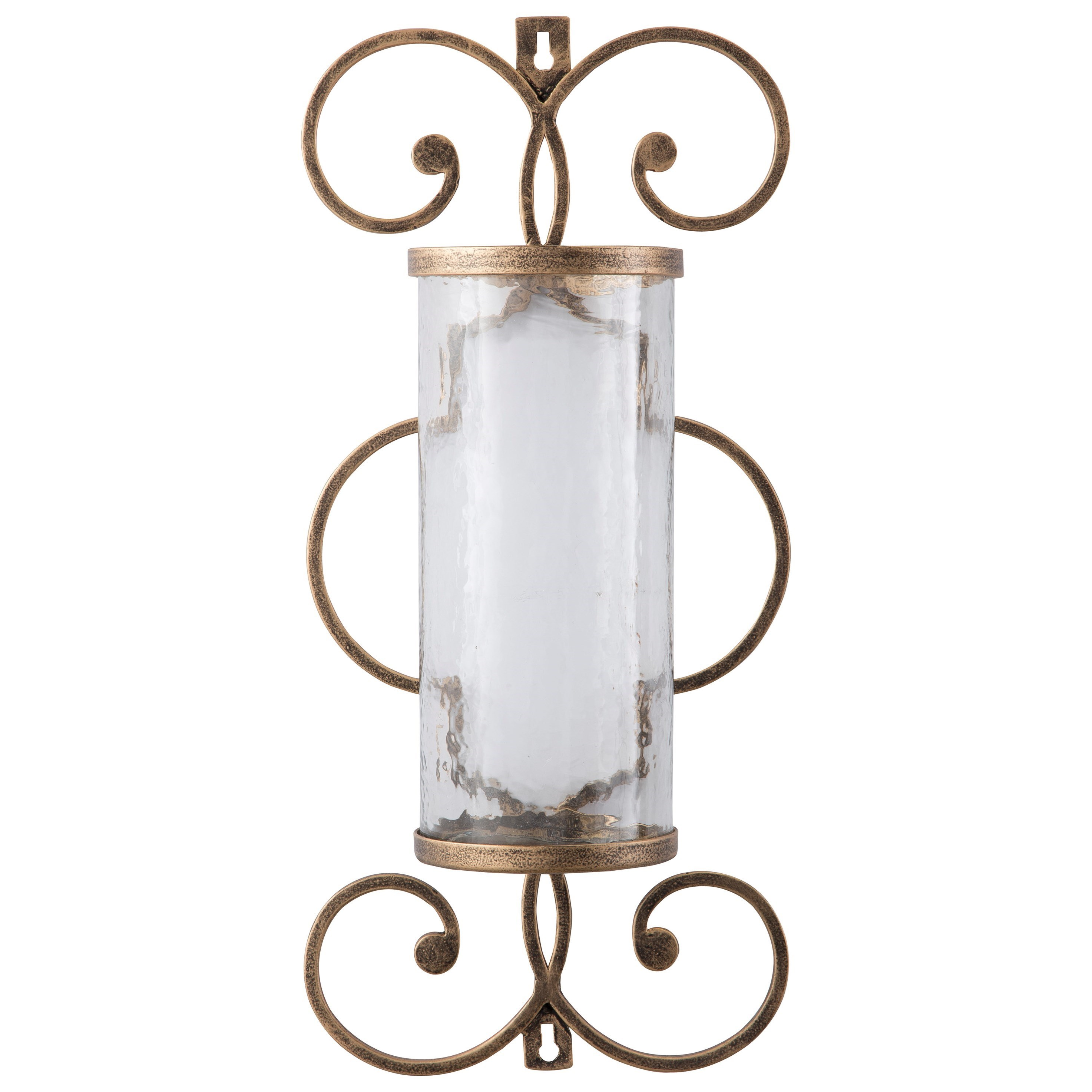 Signature Design by Ashley Wall Art Oenone Antique Gold Finish Wall Sconce - Item Number: A8010038