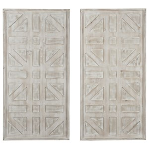 Dubem Antique White Wall Decor Set
