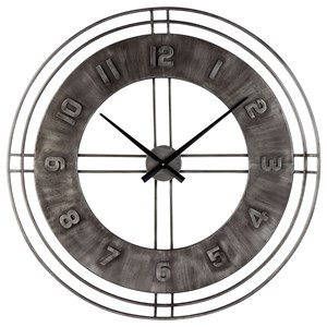 Ana Sofia Antique Gray Wall Clock