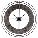 Signature Design by Ashley Wall Art Ana Sofia Antique Gray Wall Clock - Item Number: A8010068