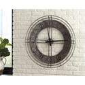 Signature Design by Ashley Wall Art Ana Sofia Antique Gray Wall Clock