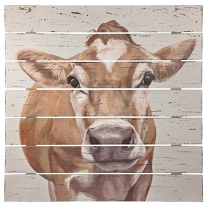 Signature Design by Ashley Wall Art Carloe Brown/White Wall Decor
