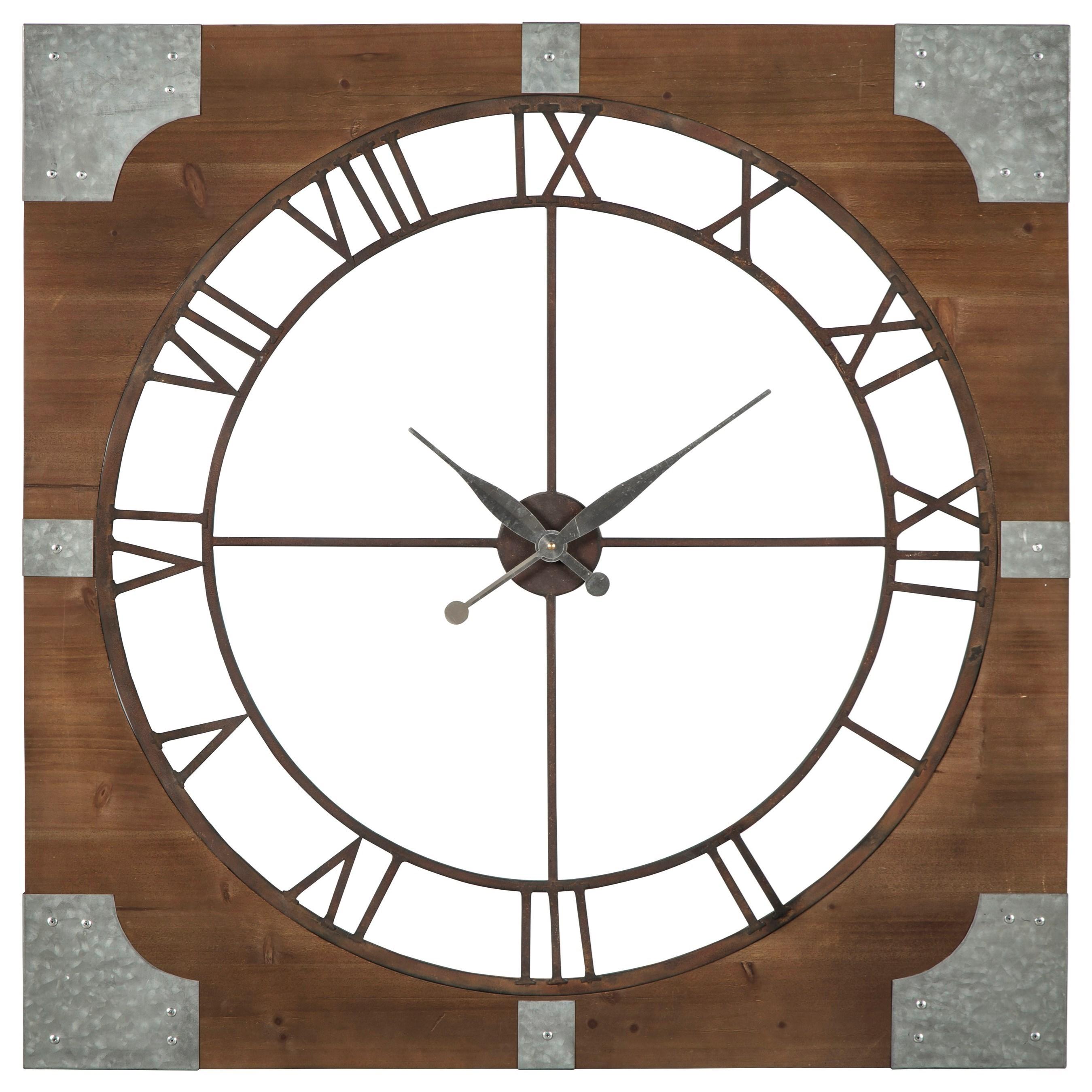 Palila Brown/Silver Finish Wall Clock