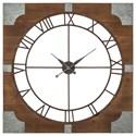 Trendz Wall Art Palila Brown/Silver Finish Wall Clock - Item Number: A8010072