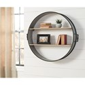 Signature Design by Ashley Wall Art Eirny Antique Gray/Natural Wall Shelf