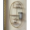 Signature Design by Ashley Wall Art Elettra Natural/Gold Finish Wall Shelf