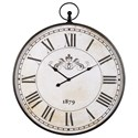 Signature Design by Ashley Wall Art Augustina Antique Black Wall Clock - Item Number: A8010110