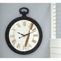 Signature Design by Ashley Wall Art Juan Brown Wall Clock