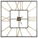 Signature Design by Ashley Wall Art Thames Black/Gold Finish Wall Clock - Item Number: A8010112