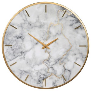 Ashley (Signature Design) Wall Art Jazmin Gray/Gold Finish Wall Clock