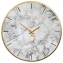 Signature Design by Ashley Wall Art Jazmin Gray/Gold Finish Wall Clock - Item Number: A8010130