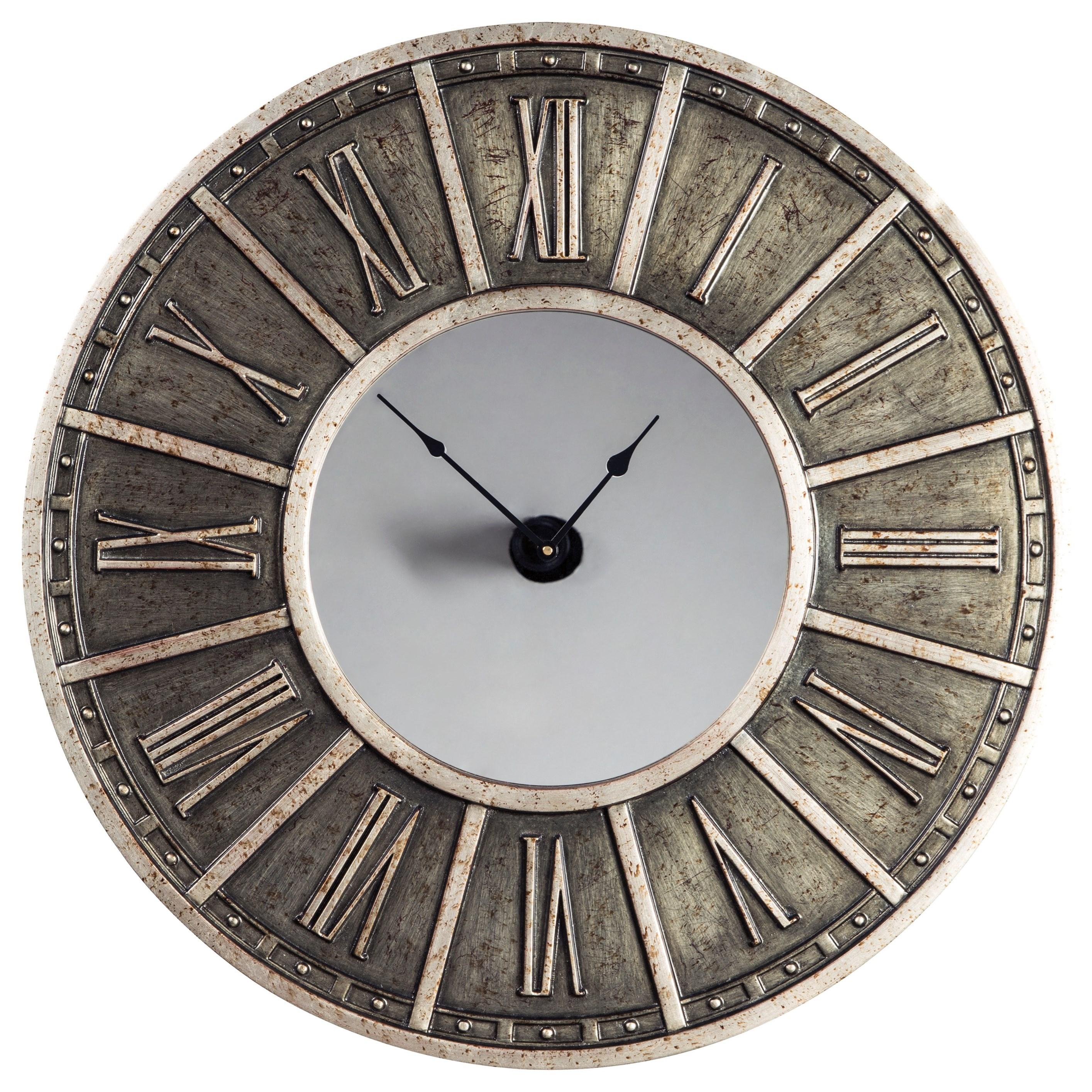 Peer Champagne/Black Wall Clock