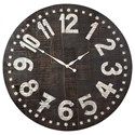 Signature Design by Ashley Wall Art Brone Black/White Wall Clock - Item Number: A8010167