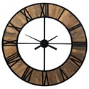 Signature Design by Ashley Wall Art Byram Natural/Black Wall Clock - Item Number: A8010178