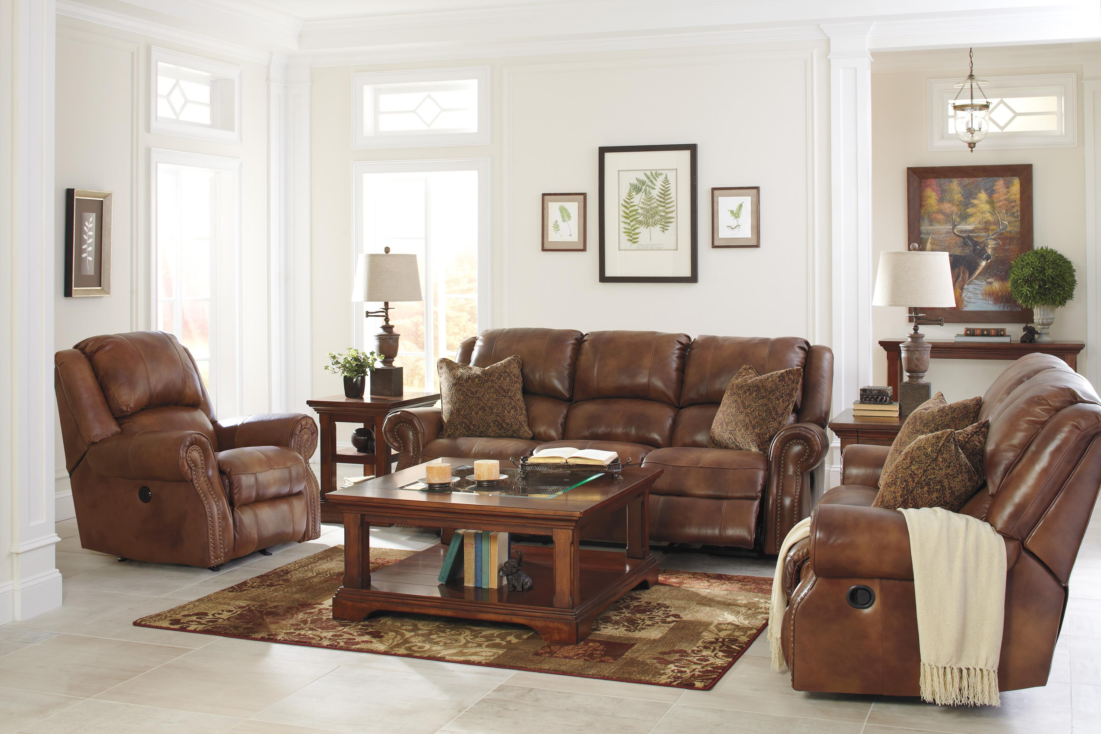 Signature Design by Ashley Walworth Reclining Living Room Group - Item Number: U78001 Living Room Group 3