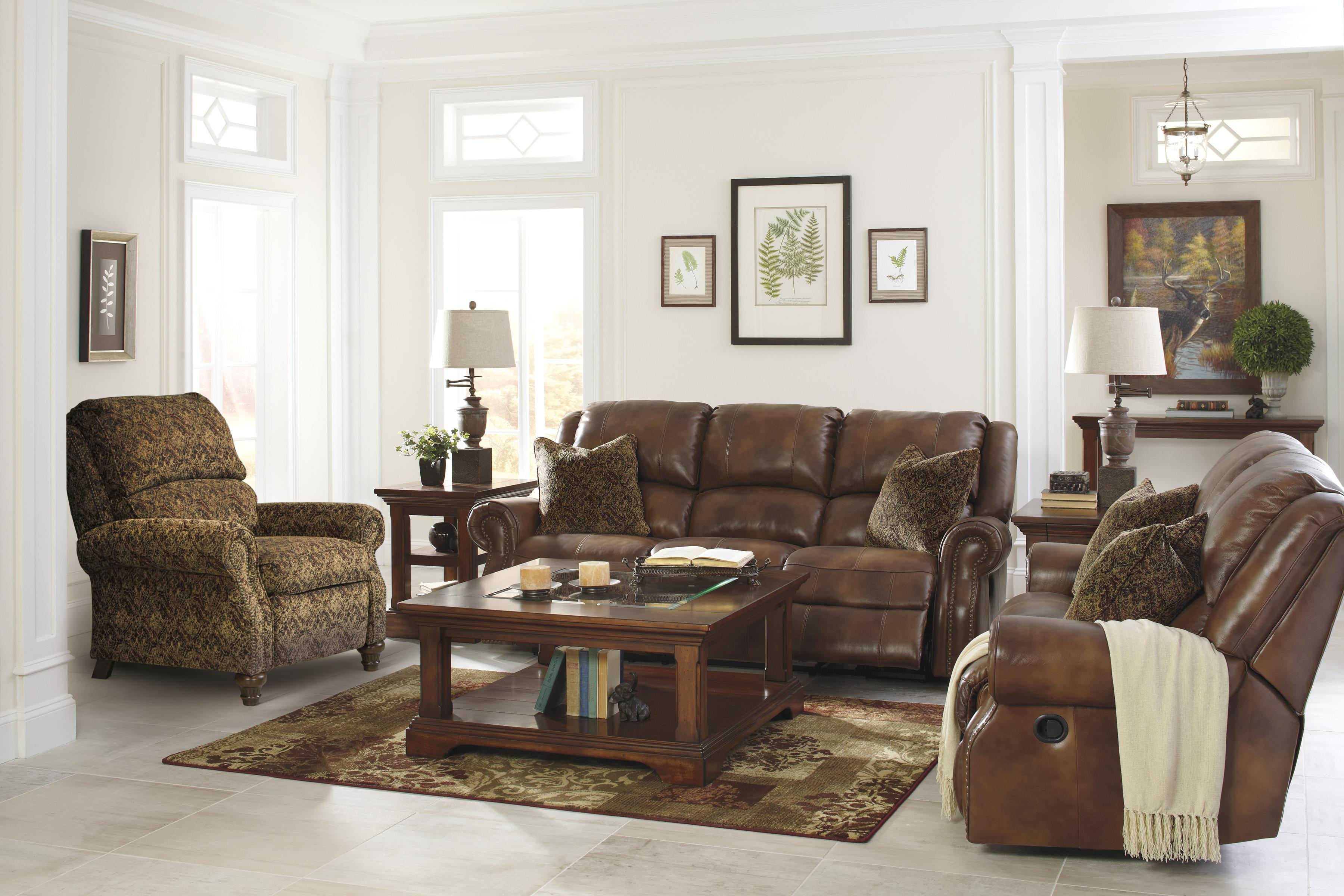 Signature Design by Ashley Walworth Reclining Living Room Group - Item Number: U78001 Living Room Group 6