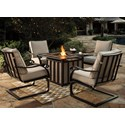 Signature Design by Ashley Wandon Outdoor 5-Piece Fire Pit Table Set - Item Number: P454-772+860