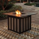 Signature Design by Ashley Wandon Outdoor Square Fire Pit Table - Item Number: P454-772