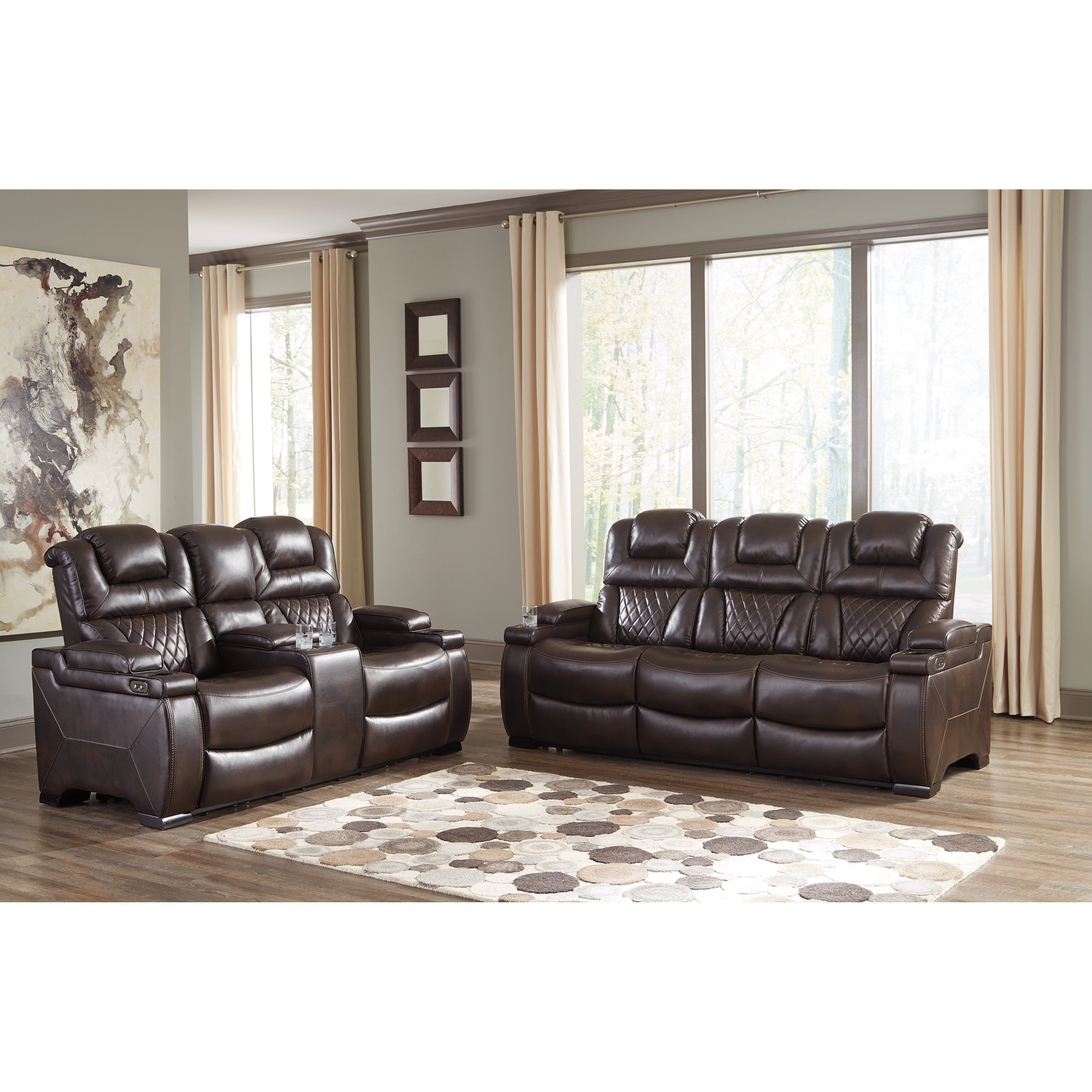 Furniture By Ashley: Signature Design By Ashley Warnerton Reclining Living Room