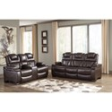 Signature Design by Ashley Warnerton Reclining Living Room Group - Item Number: 75407 Living Room Group 1
