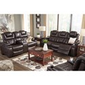 Signature Design by Ashley Warnerton Reclining Living Room Group - Item Number: 75407 Living Room Group 2