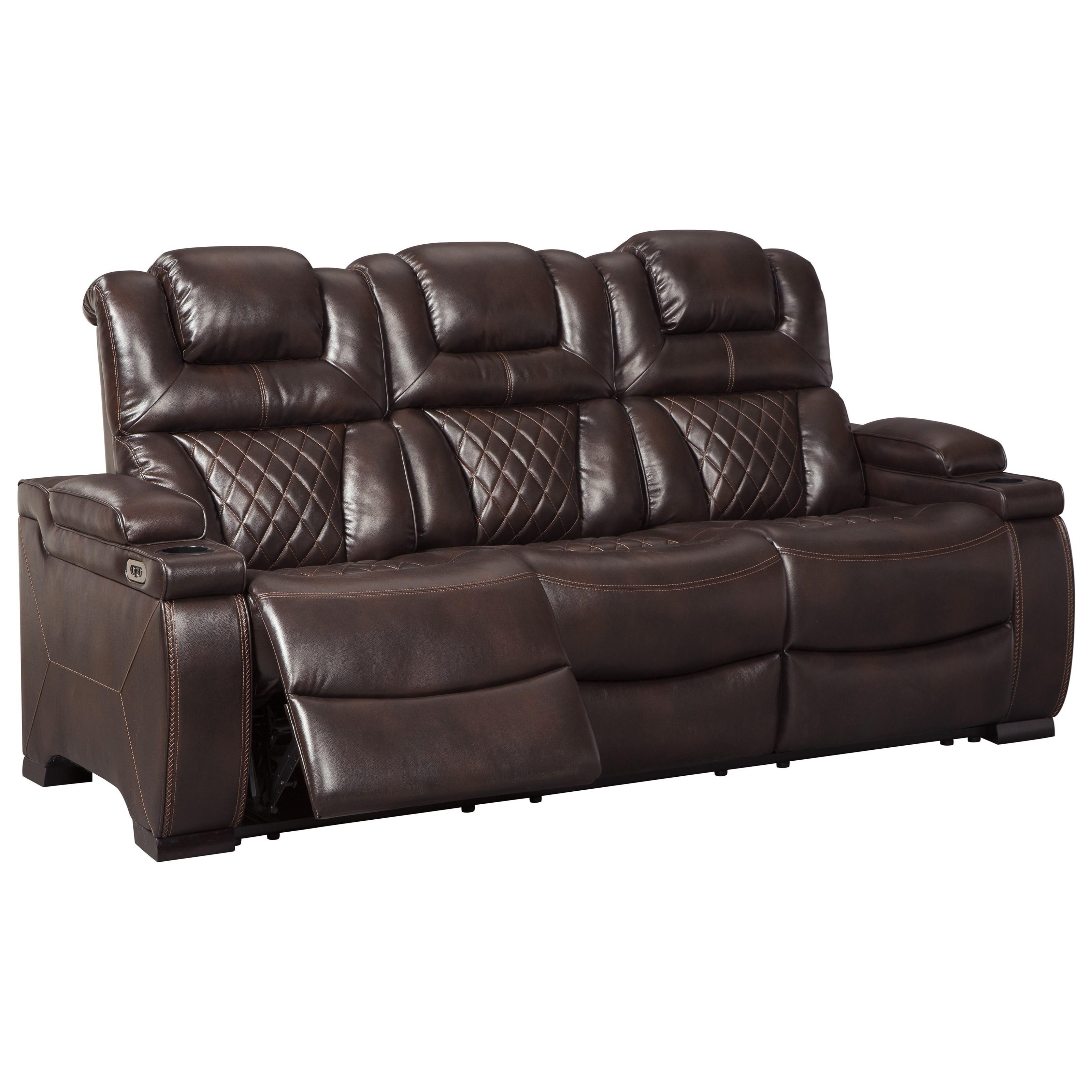 Signature Design Couch: Signature Design By Ashley Warnerton Power Reclining Sofa