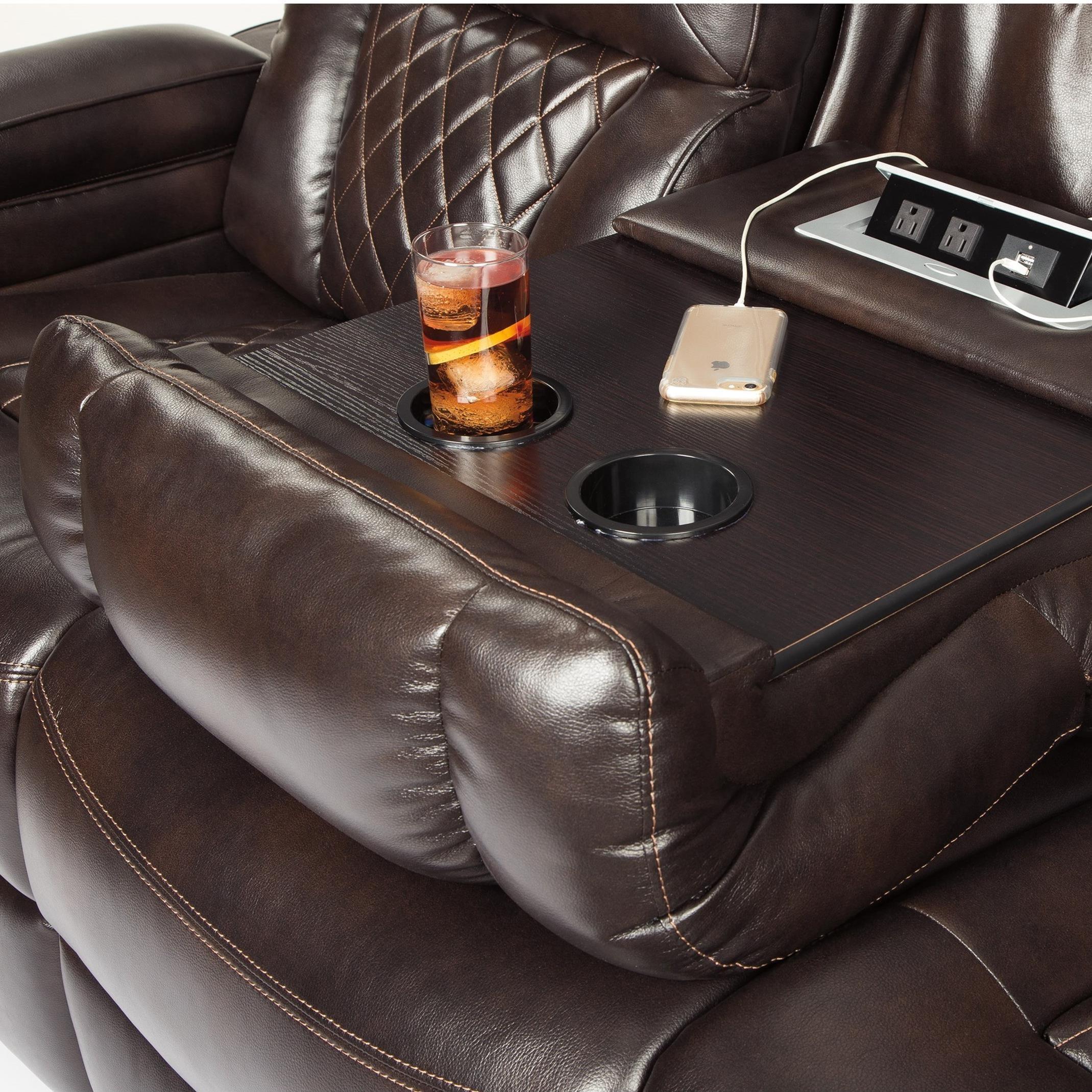 Signature Design By Ashley Warnerton Power Reclining Sofa