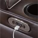 Signature Design by Ashley Warnerton Power Reclining Loveseat with Adjustable Headrest