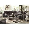 Signature Design by Ashley Warnerton 3 PC Power Headrest Sectional and Recliner S - Item Number: 826375405