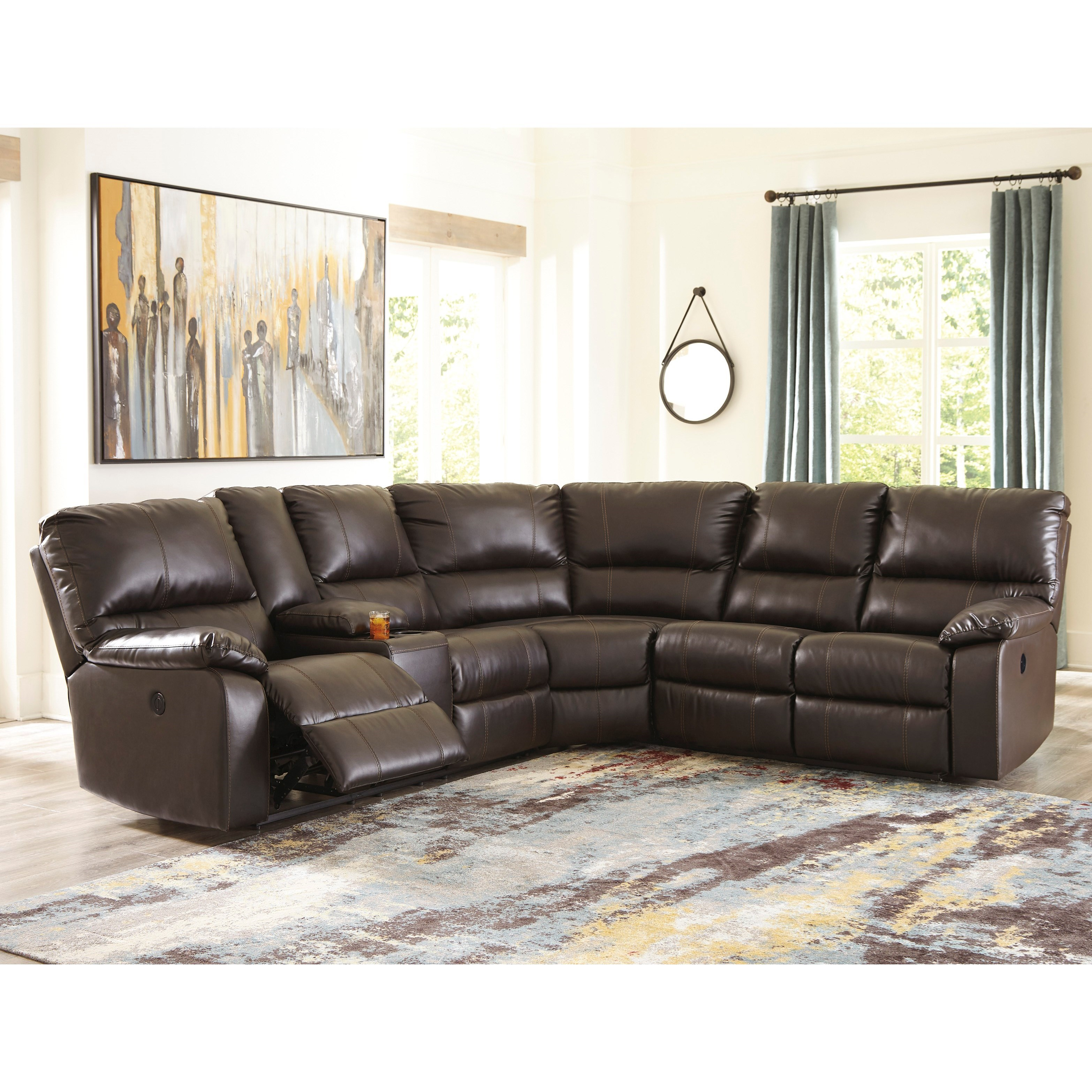 Warstein Casual 3 Piece Power Reclining Sectional