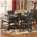 Signature Design by Ashley Watson  Contemporary 6 Piece Dining Table Set with Bench - D541-25+4x01+00