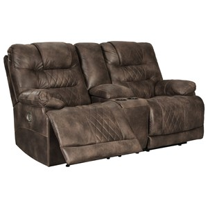 Signature Design by Ashley Welsford Power Reclining Console Loveseat