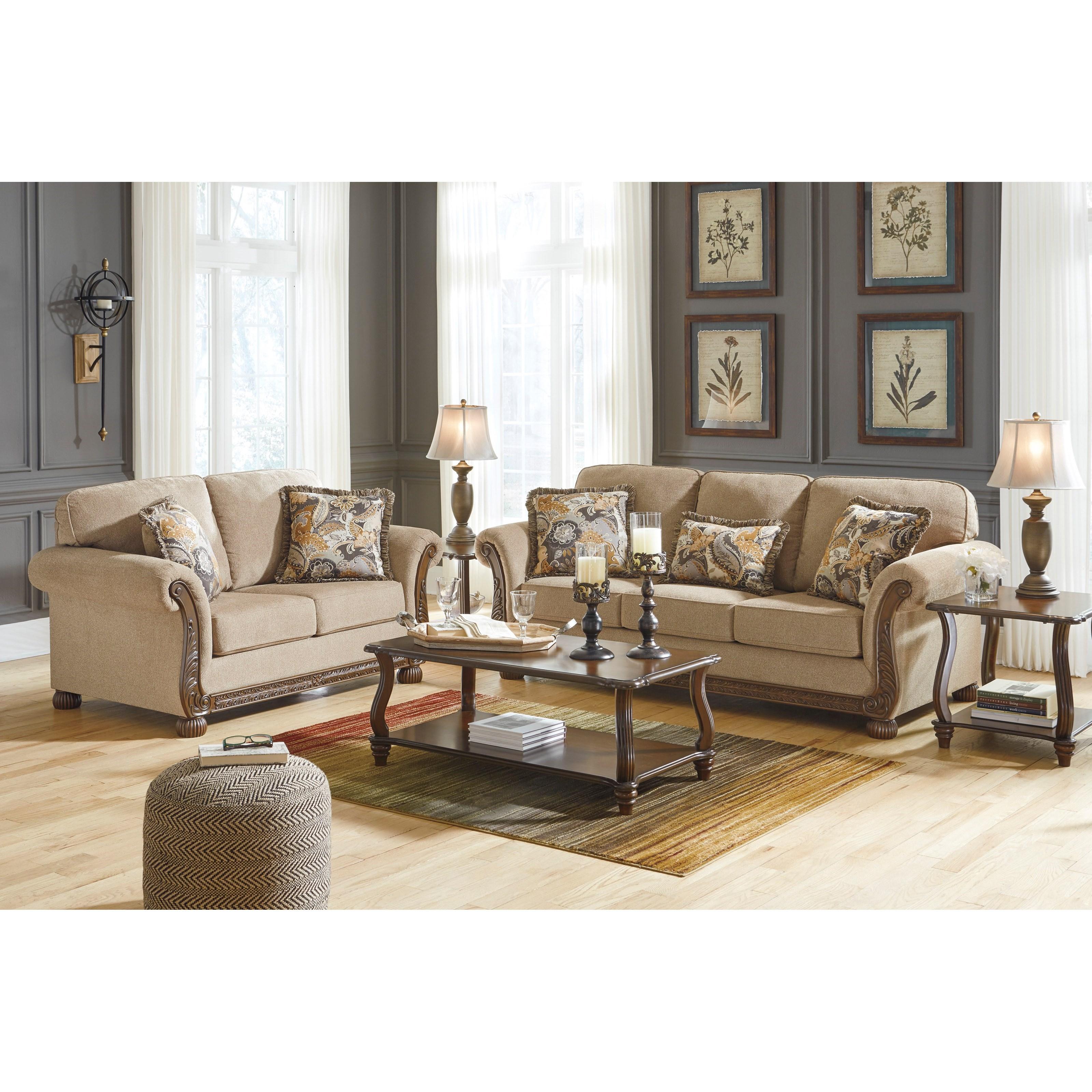 Signature Design By Ashley Living Room Jarreau Chair: Signature Design By Ashley Westerwood Stationary Living
