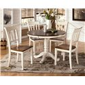Signature Design by Ashley Whitesburg 5-Piece Round Table Set - Item Number: D583-15B+T+4x02