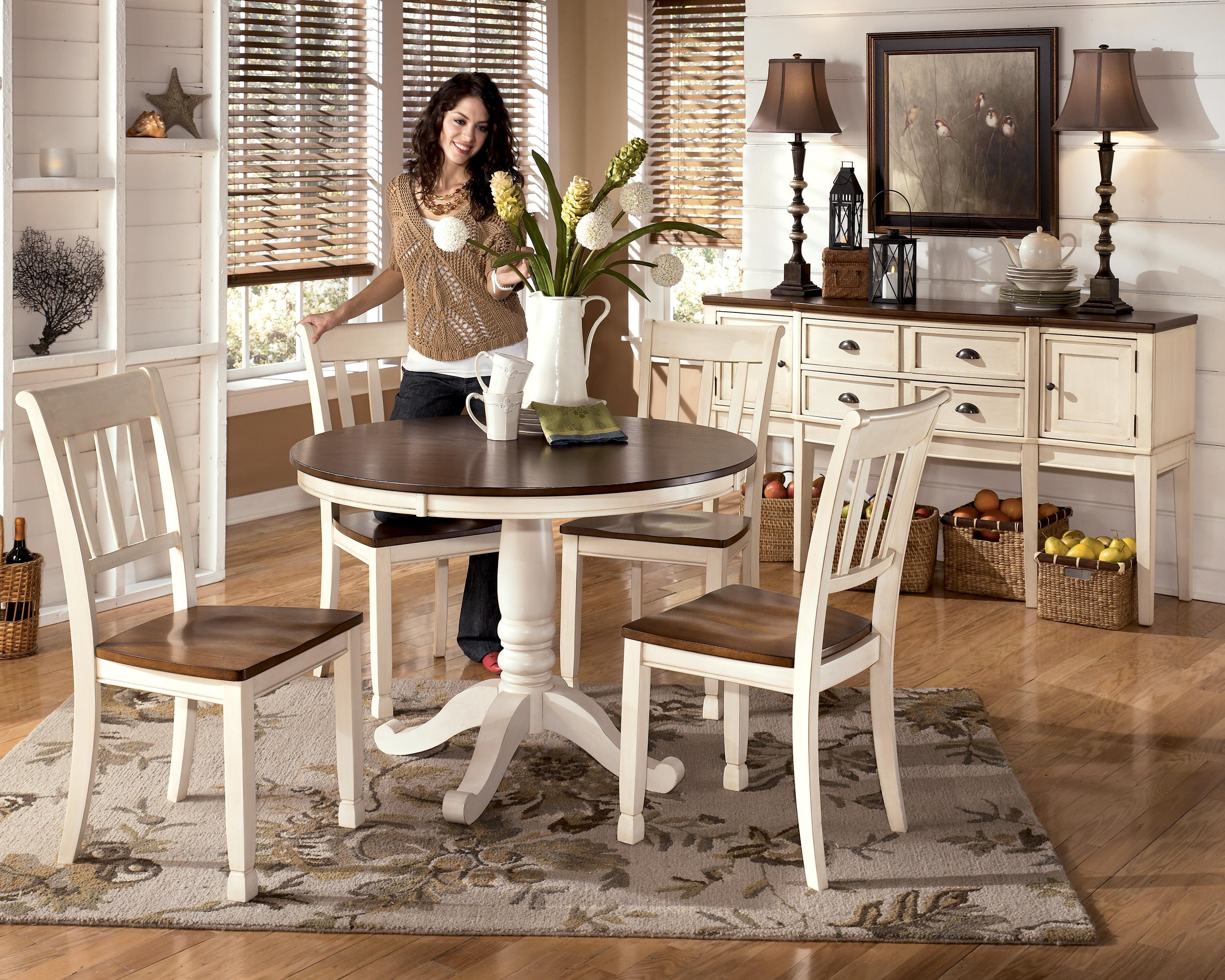 Signature Design by Ashley Whitesburg Two Tone Round Table ...