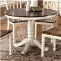 Signature Design by Ashley Whitesburg Round Table - Item Number: D583-15B+T