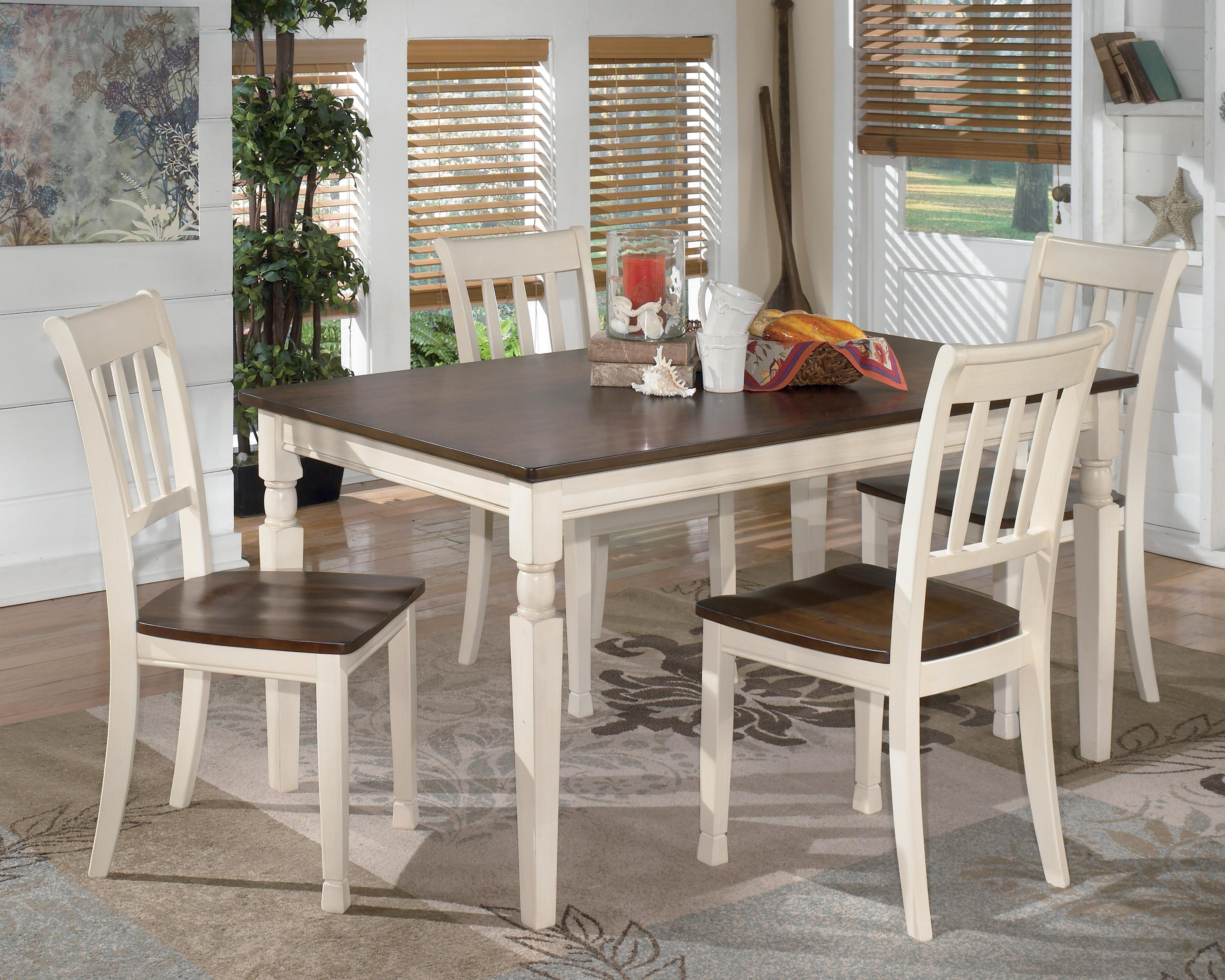 signature design by ashley whitesburg 5piece rectangular dining table set item number