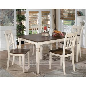 Signature Design by Ashley Whitesburg 5-Piece Rectangular Dining Table Set
