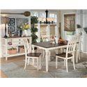 Signature Design by Ashley Whitesburg 5-Piece Rectangular Dining Table Set