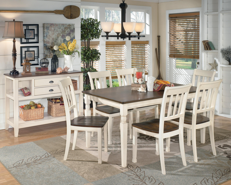 Signature Design By Ashley Whitesburg 7-Piece Rectangular Dining Table Set