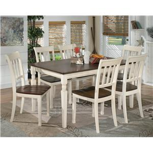 Signature Design by Ashley Whitesburg 7-Piece Rectangular Dining Table Set  sc 1 st  Darvin Furniture & Table and Chair Sets | Orland Park Chicago IL Table and Chair Sets ...