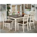 Signature Design by Ashley Whitesburg 7-Piece Rectangular Dining Table Set - Item Number: D583-25+6x02