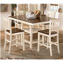Signature Design by Ashley Whitesburg 5-Piece Counter Extension Table Set - Item Number: D583-32+4x224