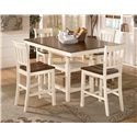 Signature Design by Ashley Whitesburg 8-Piece Square Counter Extension Table Set with Double Barstool - Table Shown without Leaf