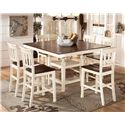 Signature Design by Ashley Whitesburg 7-Piece Counter Extension Table Set - Item Number: D583-32+6x224