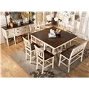 Signature Design by Ashley Whitesburg Two-Tone Double Barstool with Slat Back - Server No Longer Available