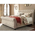 Signature Design by Ashley Willenburg King Upholstered Sleigh Bed - Item Number: B643-78+76+99