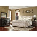 Signature Design by Ashley Willenburg California King Upholstered Sleigh Bed with Tufting